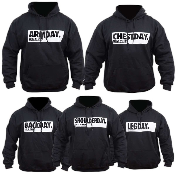 Trainingday 5er Set - Schwarze Herren Hoodies