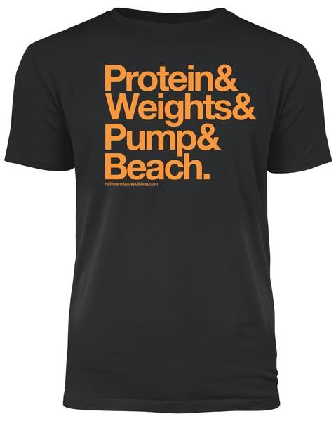 Protein & Weights - Schwarzes Herren T-Shirt