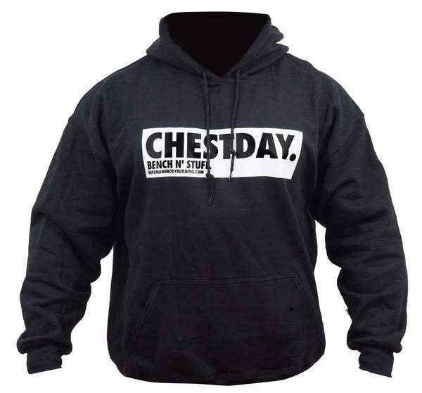 chestday bench n 39 stuff schwarzer herren hoodie. Black Bedroom Furniture Sets. Home Design Ideas
