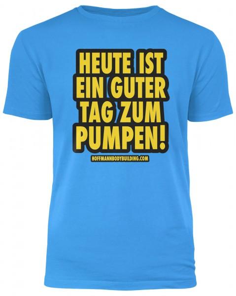 Heute ist ein guter Tag zum Pumpen! - Heather Sapphire Herren T-Shirt