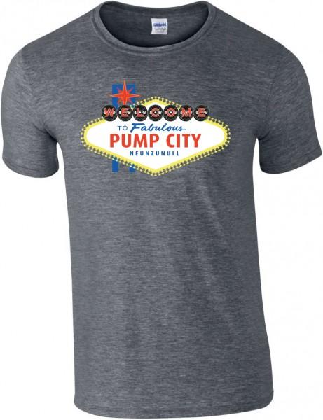 Pump City - Grau meliertes Herren T-Shirt