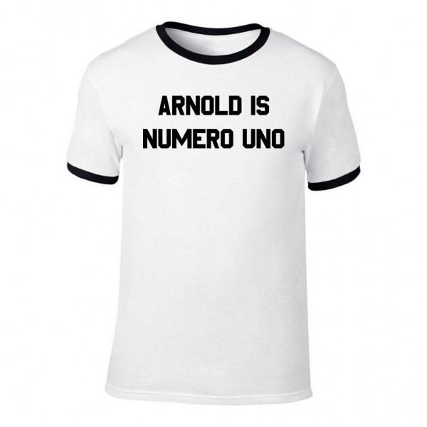 Arnold Is Numero Uno - Weißes Herren T-Shirt