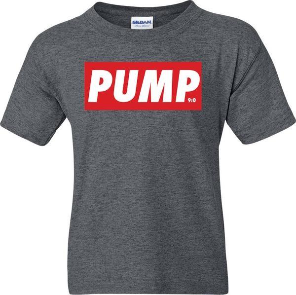 PUMP - Dunkelgrau meliertes Herren T-Shirt