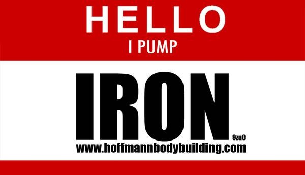 Hello I Pump Iron Sticker 2er Set