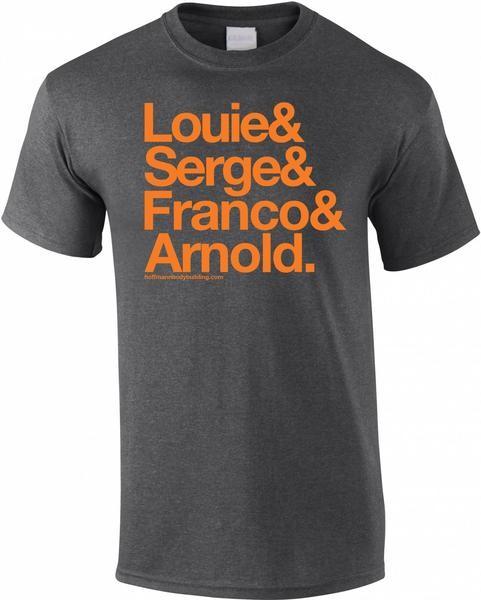 Fab Four - Dunkelgrau meliertes Herren T-Shirt