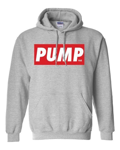 PUMP - Grau melierter Herren Hoodie