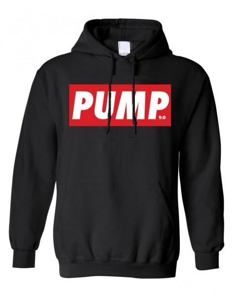 PUMP - Schwarzer Herren Hoodie