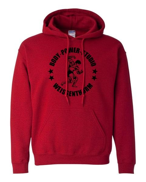 Body Power Studio - Roter Herren Hoodie