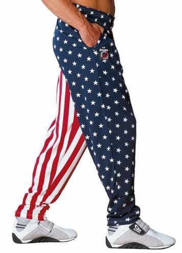 American Flag USA Baggy Gym Pant