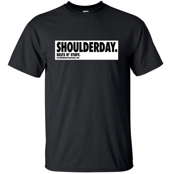 SHOULDERDAY - DELTS N' STUFF - schwarzes unisex T-Shirt