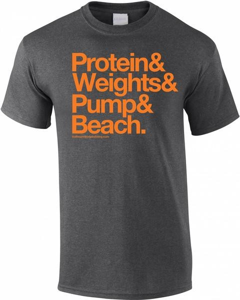 Protein & Weights - Royalblaues Herren T-Shirt