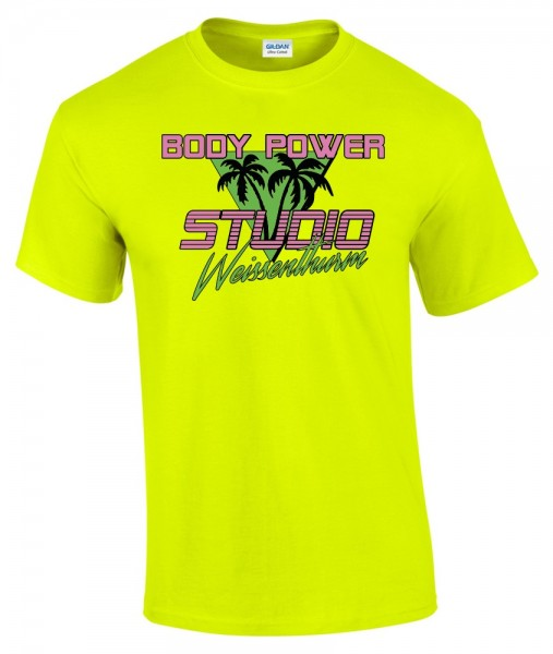 Body Power Studio Florida '88 - Neon Gelbes Unisex T-Shirt