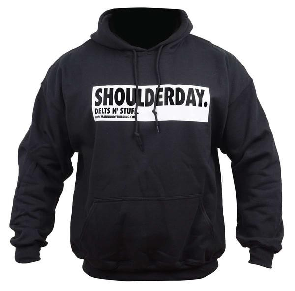 Shoulderday - Delts n' Stuff - Schwarzer Herren Hoodie