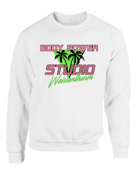 Body Power Studio Florida '88 - Weißer Unisex Sweater
