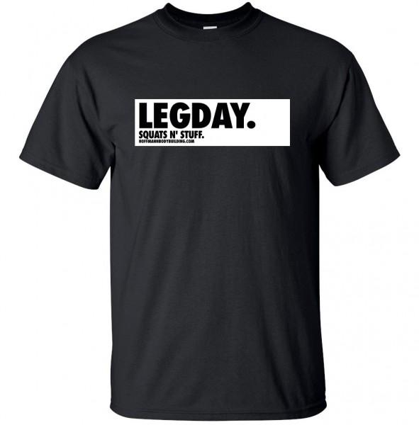 LEGDAY - SQUATS 'N STUFF - schwarzes unisex T-Shirt